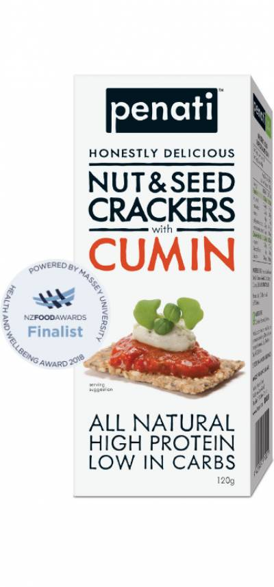 Penati Honestly Delicious Nut & Seed Crackers with CUMIN