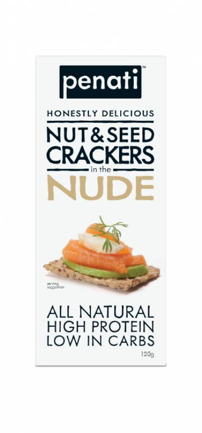 Penati Honestly Delicious Nut & Seed Crackers in the NUDE