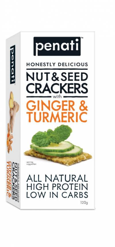 Penati Honestly Delicious Nut & Seed Crackers with GINGER & TURMERIC