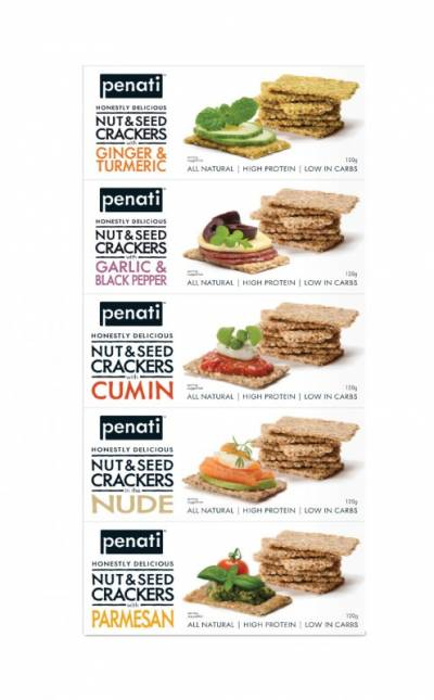 Penati Honestly Delicious Nut & Seed Crackers MIXED TASTES
